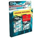 Gillette Mach3 12 Lamette di Ricambio per Rasoio, Maxi Formato