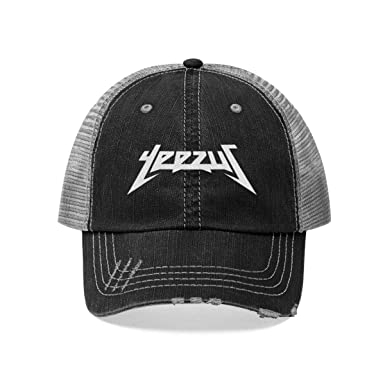 538bd6357fbbb HypeMonsterz Kanye West Yeezus Inspired Unisex Trucker dad hat Cap Black at  Amazon Men s Clothing store