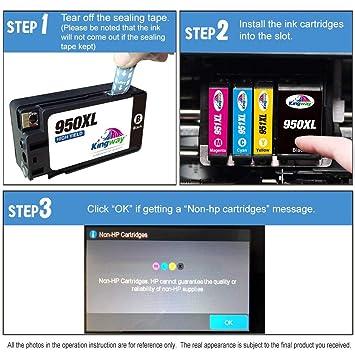 Kingway - Cartuchos de Tinta compatibles con HP 950XL 951XL para ...