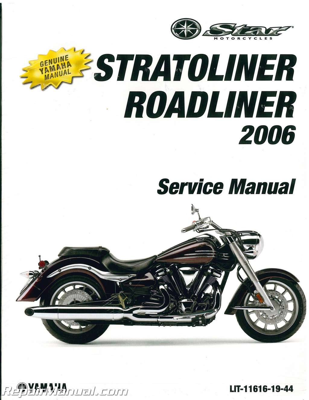 LIT-11616-19-44 2006 Yamaha XV19 Stratoliner S Midnight Motorcycle Service  Manual: Manufacturer: Amazon.com: Books