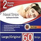 Nasal Strips Large 60 Pack | Stop Snoring Nasal Aids Help You Breathe Right | Premium Anti Snoring Nasal Strips Dilators…