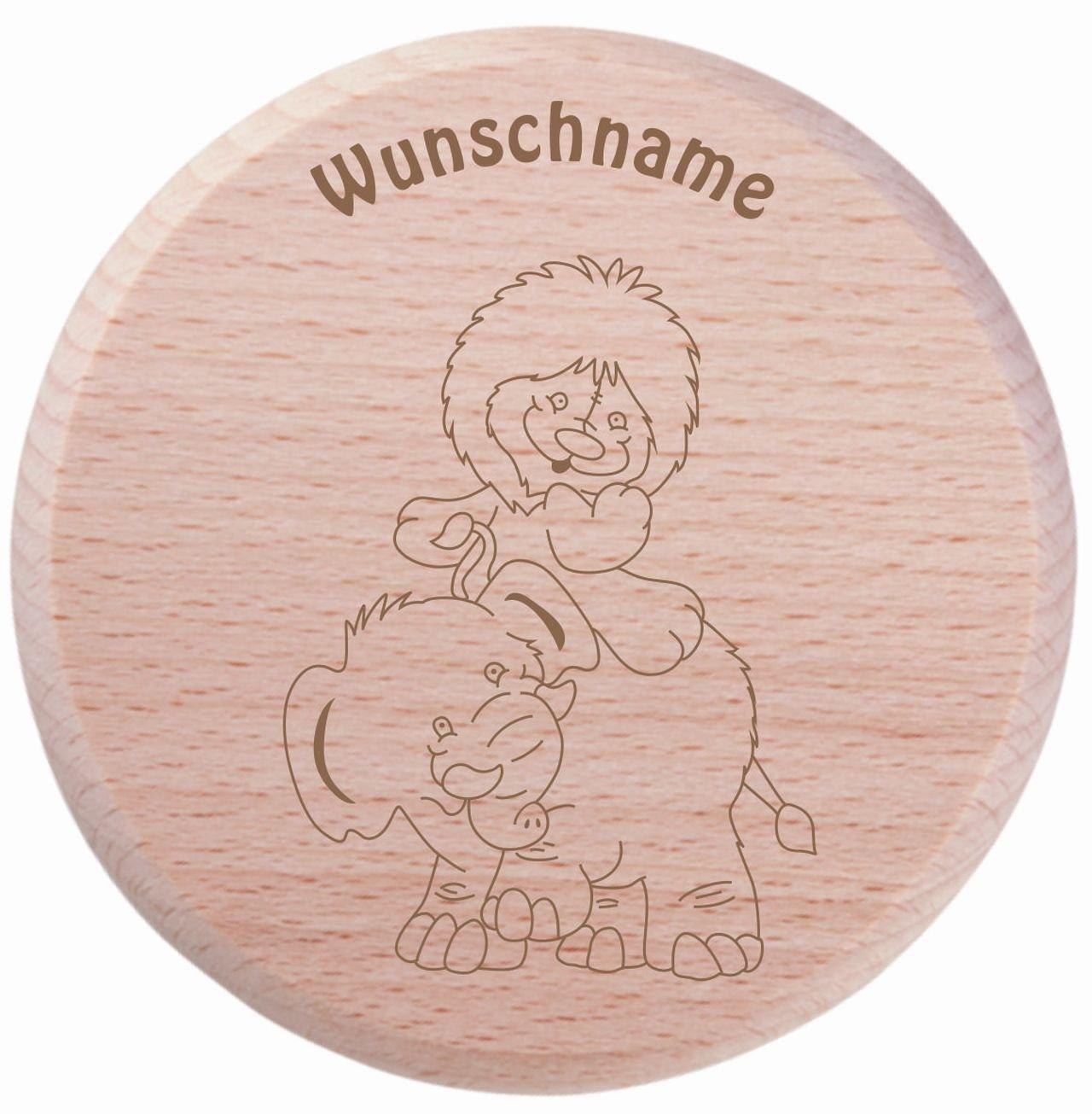 Farbklecks Collection - Trinkglas Deckel - Löwenbaby Motiv 10 - personalisierbar mit Namensgravur - Schutzdeckel - Glasdeckel - Insektendeckel - Insektenschutzdeckel - Glasabdeckung