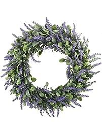 Shop amazon wreaths gtidea 16 artificial lavender wreaths flowers mightylinksfo