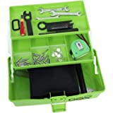 Kurtzy Multi Storage Portable 3 Layer Compartment Tool Box for Medicine, Repair, Garden and Garage Kit with Handle