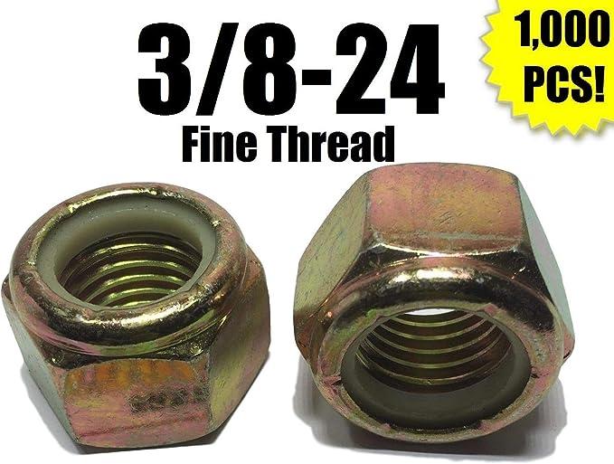 3//8-24 Fine Grade 8 Hex Jam Nut Yellow Zinc Plated