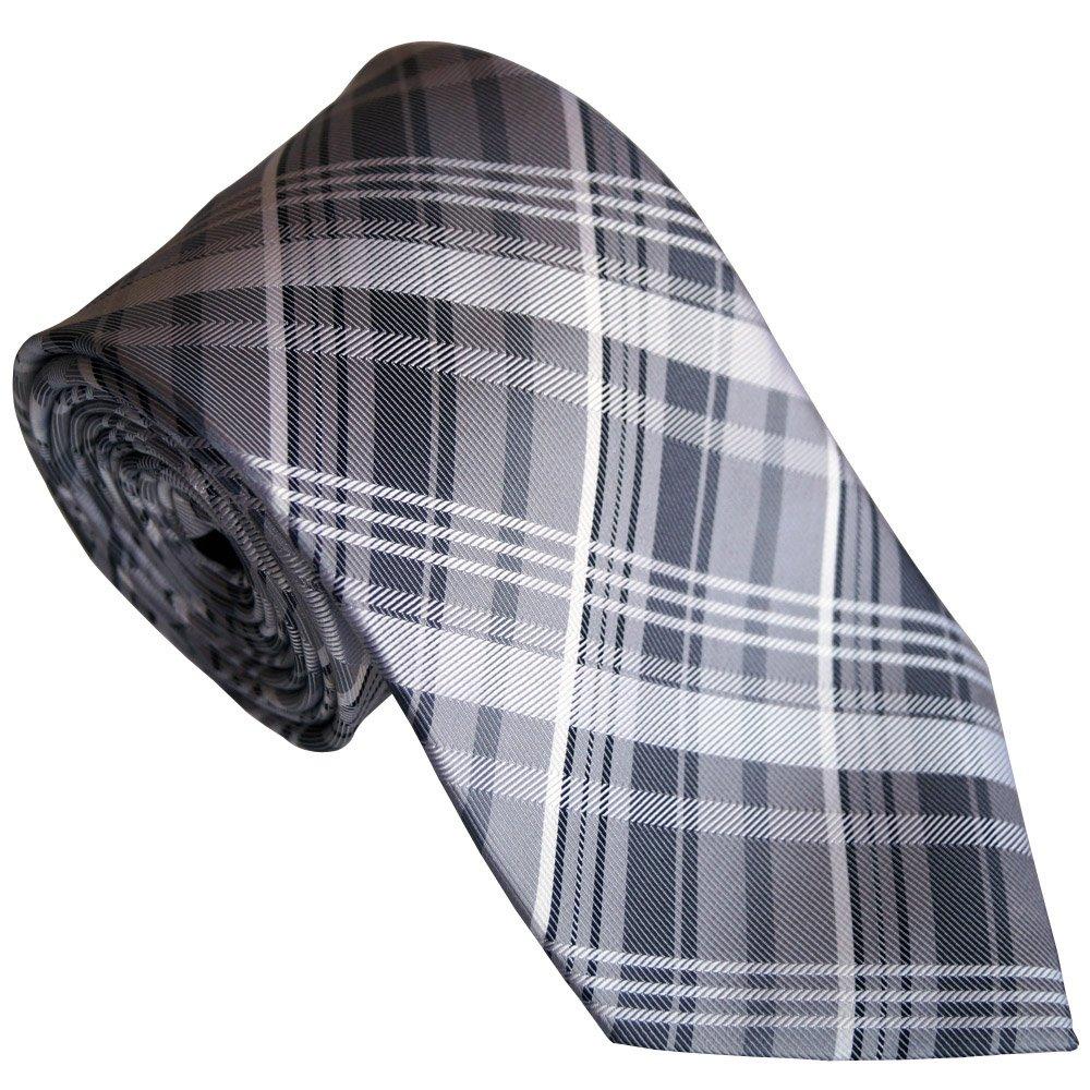 Beytnur Krawatte Kariert, Rein Siede, Grau, Model Nr. K 237.3 237.3 K
