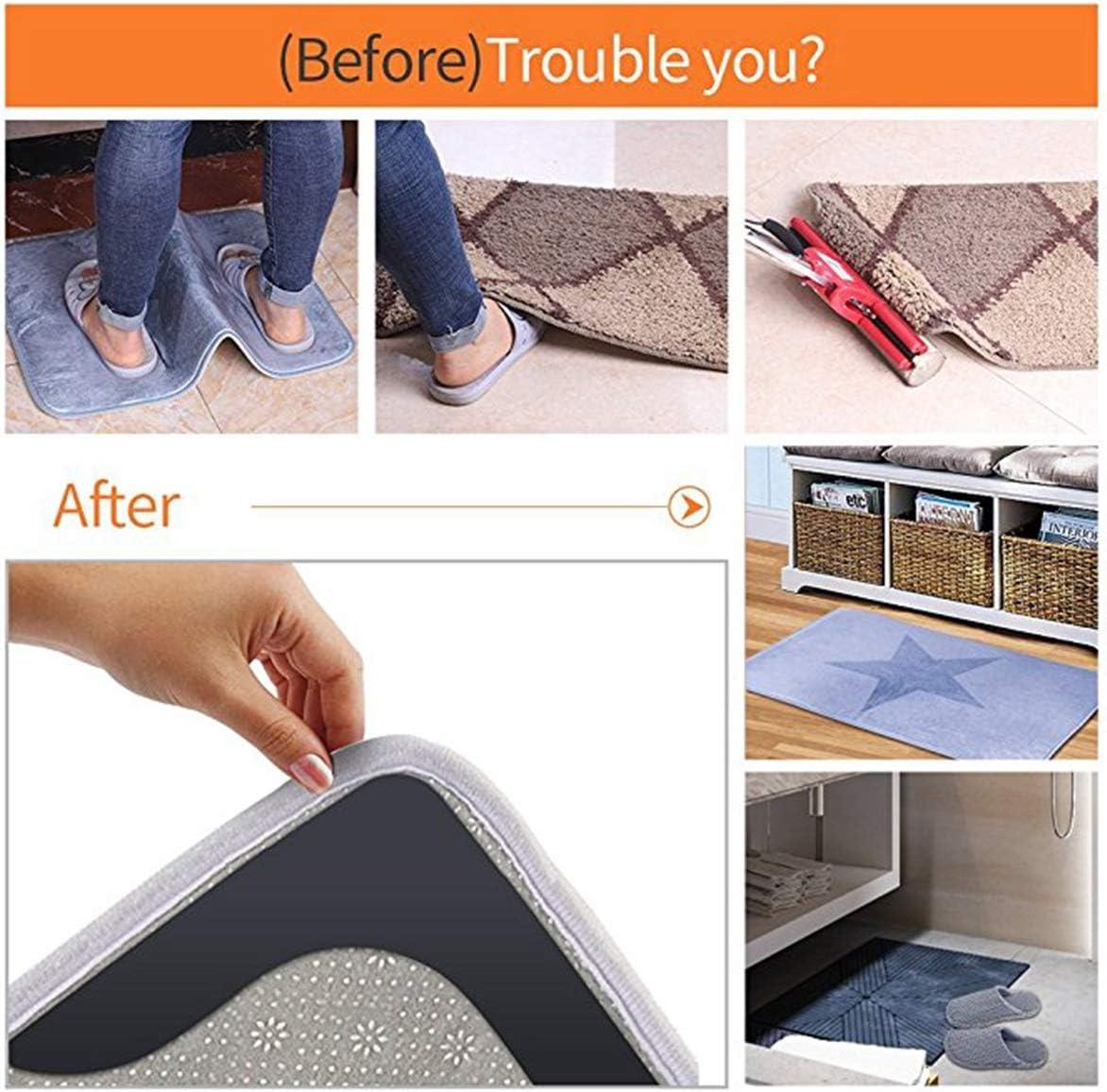 Yuniroom Rug Gripper,4//8pcs Floor Rug Carpet Mat Gripper Non Slip Anti Slip White Black Rug Gripper for Wooden Floors Carpet Sticker Anti Slip Rug Underlay to Keep Your Rug in Places