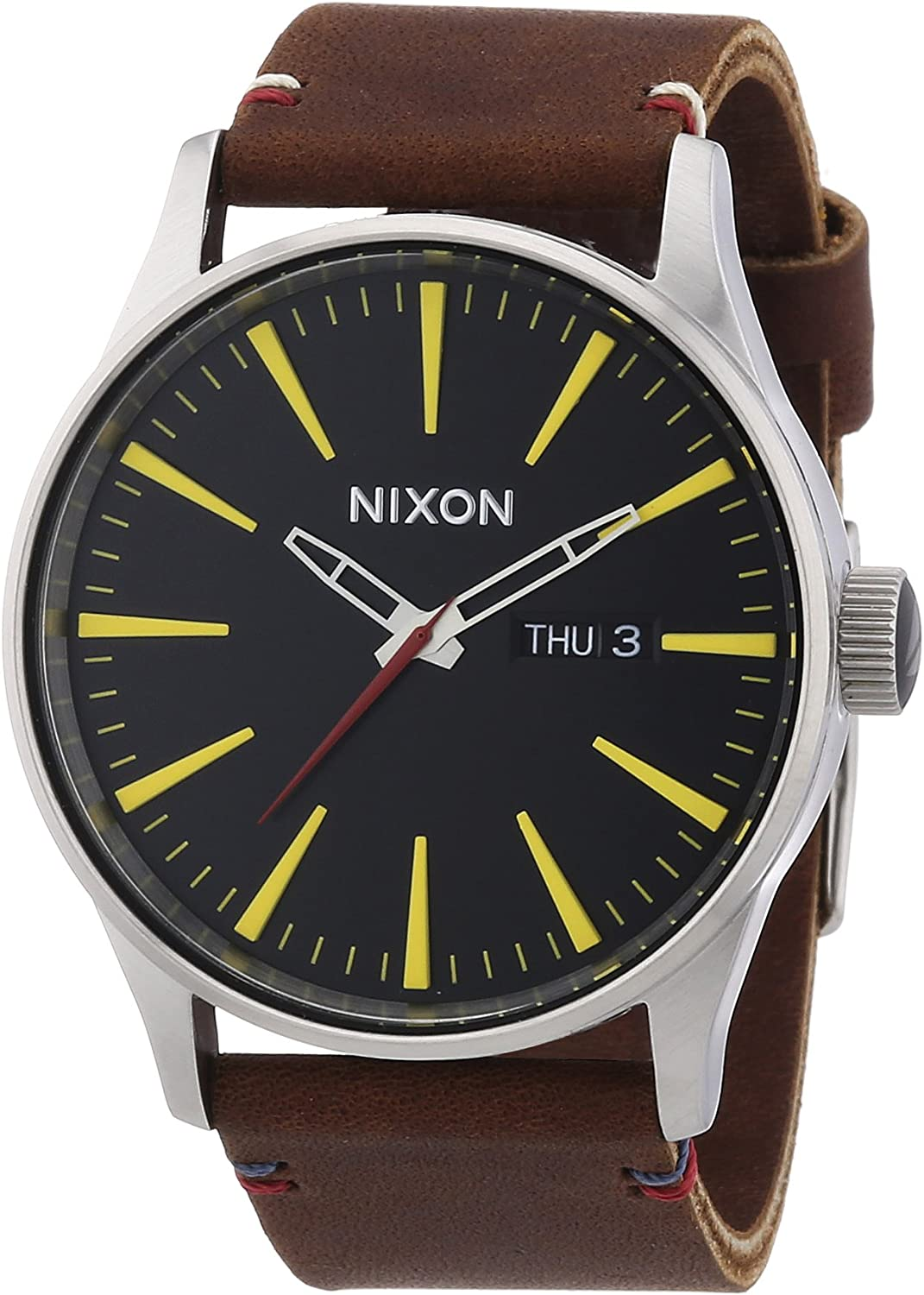 TALLA oneSize. Nixon Sentry Leather -Spring 2017- Black/Brown