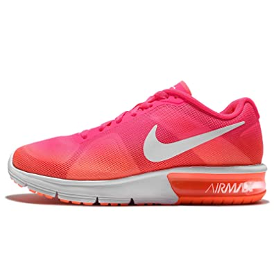 80ad634f28 Amazon.com | NIKE Women's WMNS Air Max Sequent, Pink Blast/White-Bright  Mango, 5.5 US | Shoes