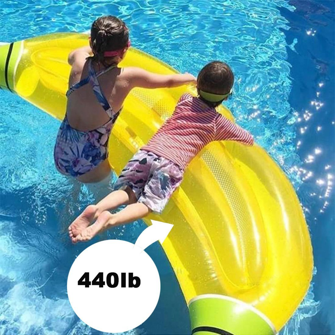 Sunbobo Banana inflable PVC flotadores asiento de la piscina para adultos niños niños niñas niños flotador de juguete: Amazon.es: Hogar