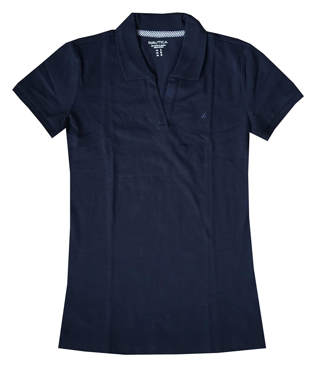 Nautica Women Split-Neck Polo Shirt (XXL, Navy): Amazon.es: Ropa y ...