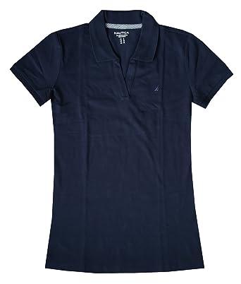 Nautica Women Split-Neck Polo Shirt (XXL, Navy): Amazon.es: Ropa y ...
