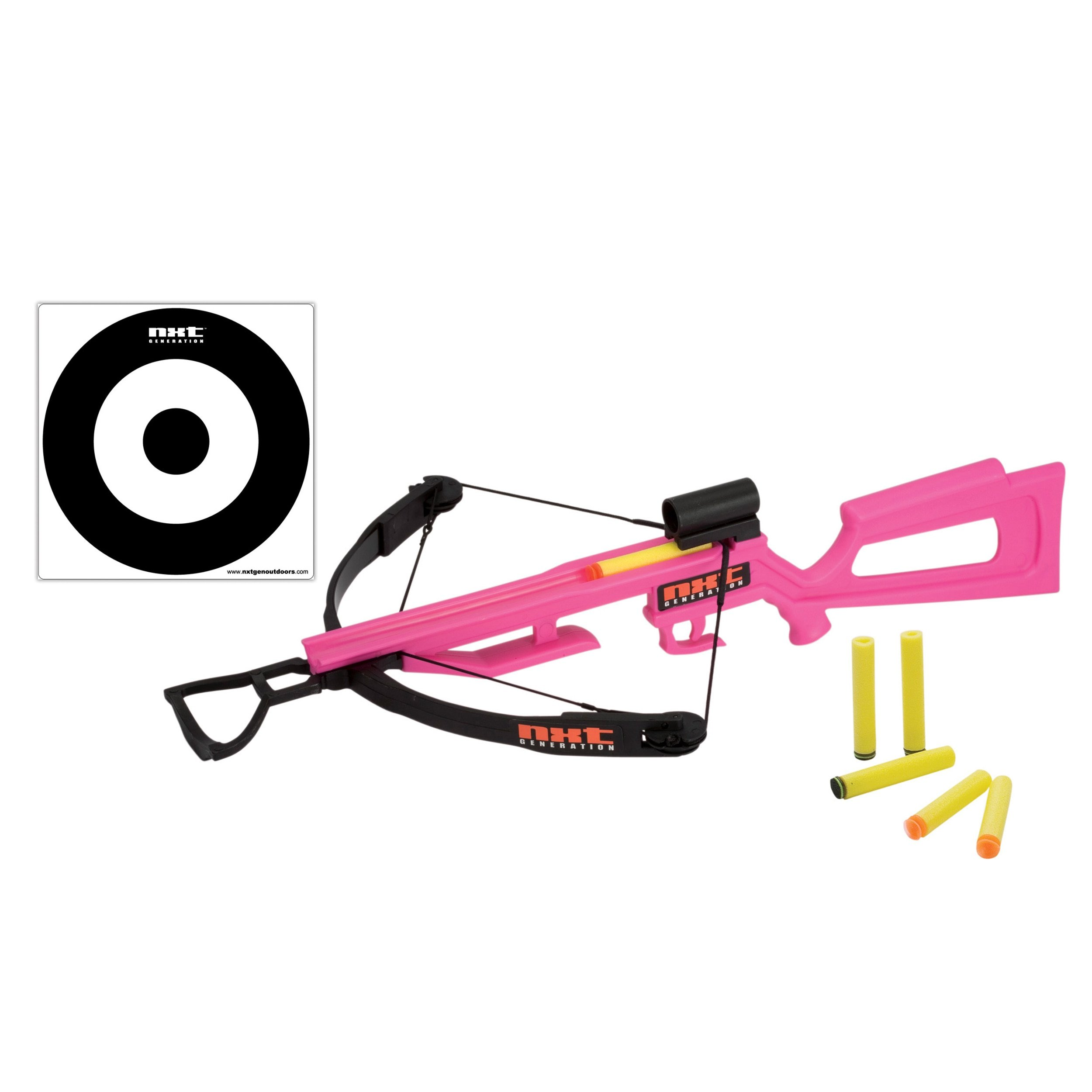 NXT Generation Crossbow and Target Kit - Accurate Crossbow Hunting Target Practice and Play set for Kids - Comes with Crossbow, Target, VELCRO, and Suction Cup Foam Dart Projectiles