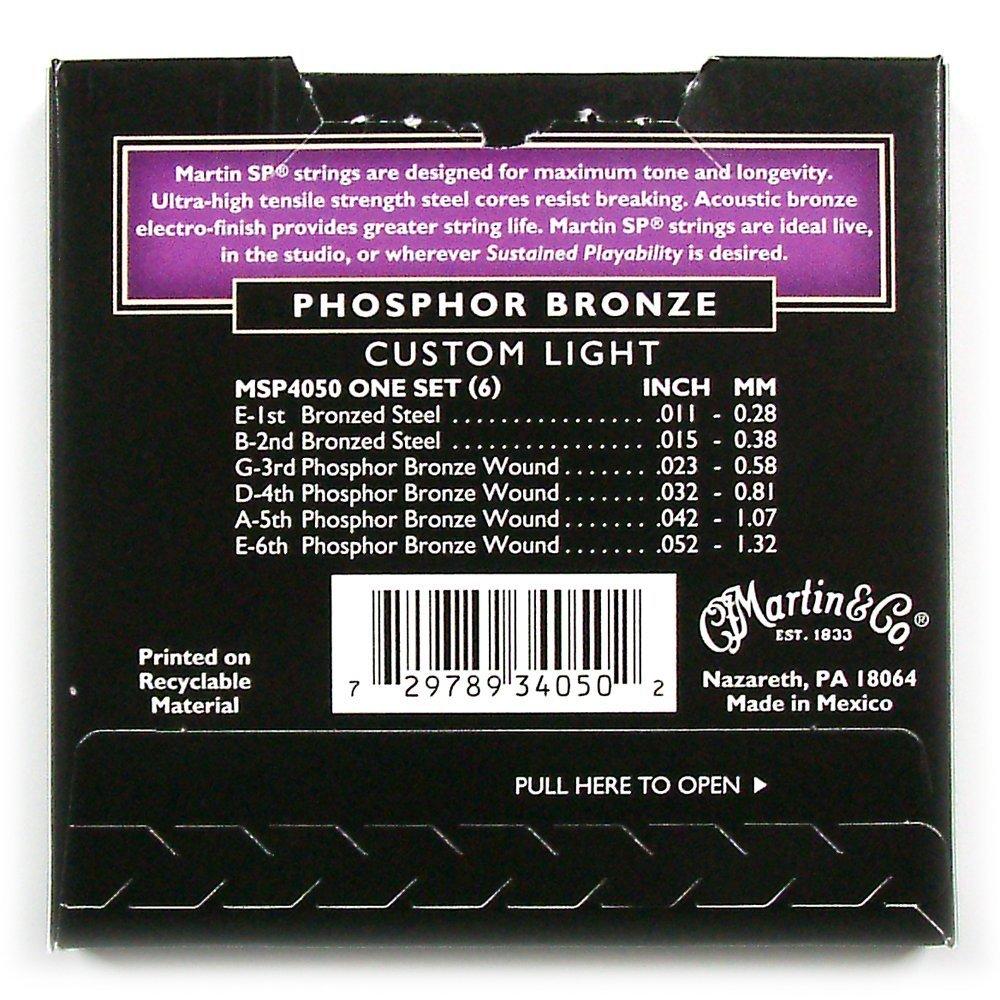 Martin MSP4200 SP Phosphor Bronze Acoustic Guitar Strings, Medium KMC Music Inc