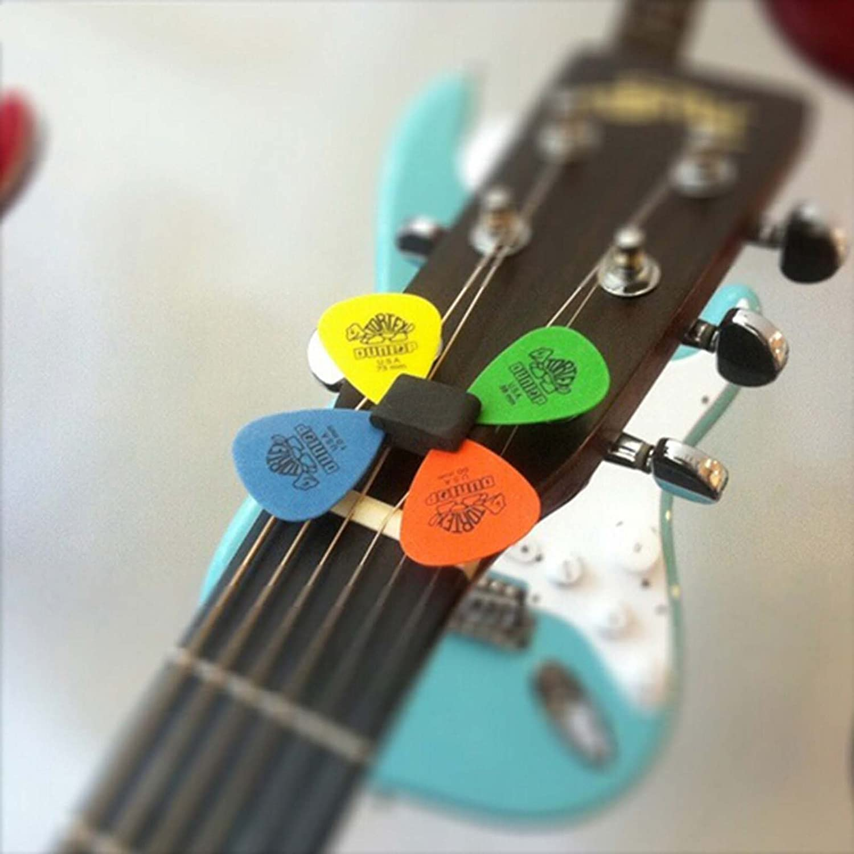 5pcs Mini guitarra goma guitarra Plectro Holder púa Holder Accesorio GGG