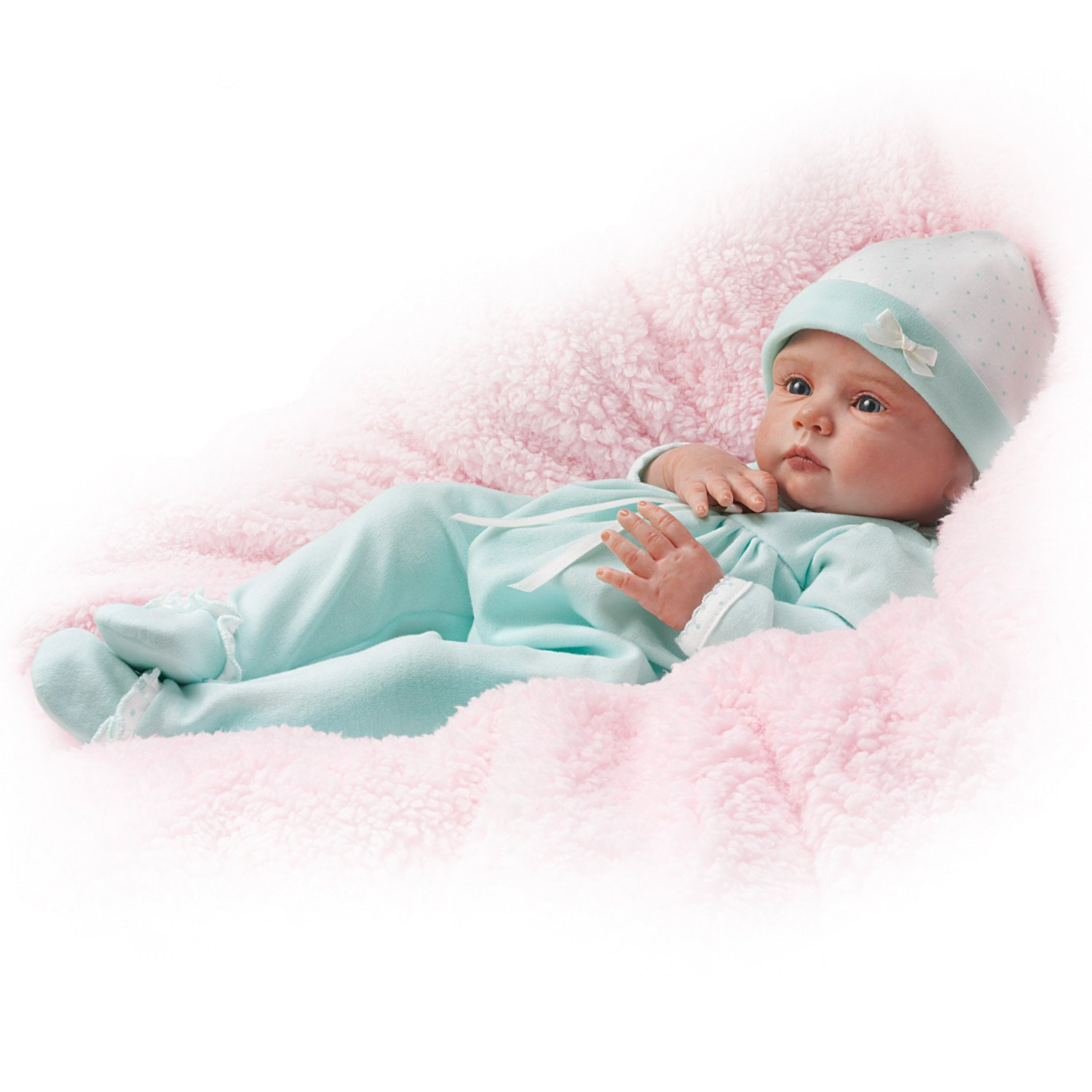 Mayra Garza Realistic Weighted Baby Girl Doll in Sleeper and Cap: Ashton Drake by The Ashton-Drake Galleries by The Ashton-Drake Galleries