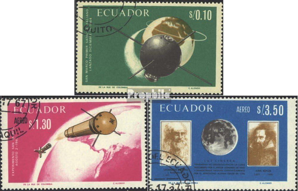 Francobolli per i Collezionisti 1966 Pizza Completa Edizione Spazio Prophila Collection Ecuador 1292-1294 Spazio