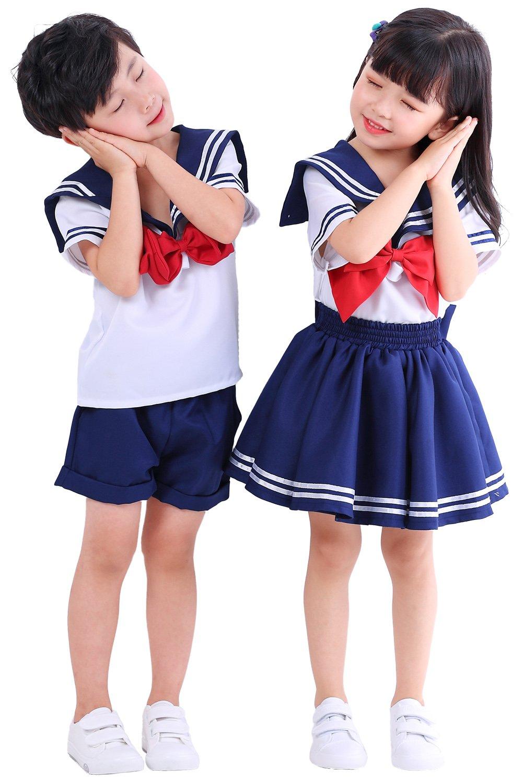 Joyshop Anime Kids Girl's School Uniform Sailor Dress