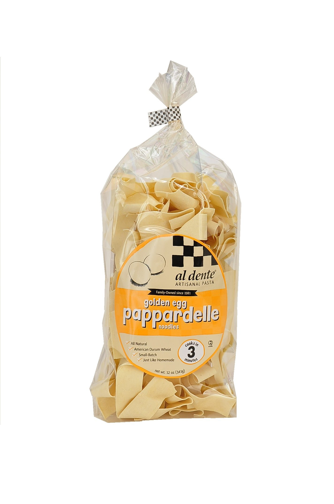 Al Dente Pappardelle, Golden Egg, 12-Ounce (Pack of 6)