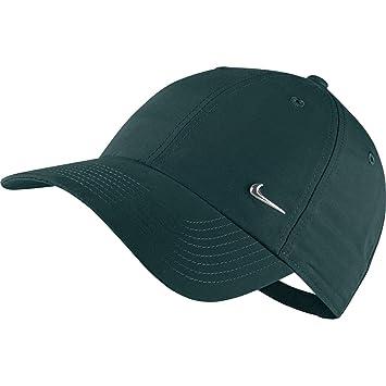 Nike U NSW 86 Metal Swoosh Unidad Gorro, Exterior Verde/Metal Plata (Estuche, One Size