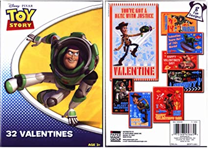Amazon Com Toy Story Valentines 32 In 8 Styles Office Products