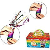 Confetti Party Poppers 12 Pack - Twist and Pop Confetti Poppers for Kids Birthday | Wedding | BBQ | Camping | Graduations - 12 Count 4 inch Confetti Popper Party Favors - Ages 3 and Up