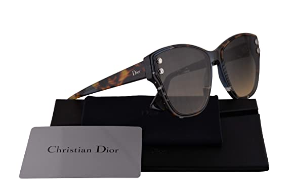 a763d81ba8 Image Unavailable. Image not available for. Color  Christian Dior  DiorAddict 3 Sunglasses Blue Havana ...