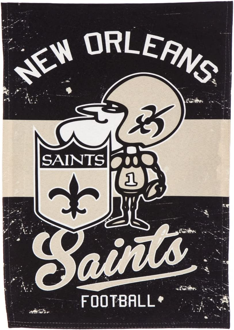 Team Sports America New Orleans Saints Vintage Garden Flag - 13 x 18 Inches