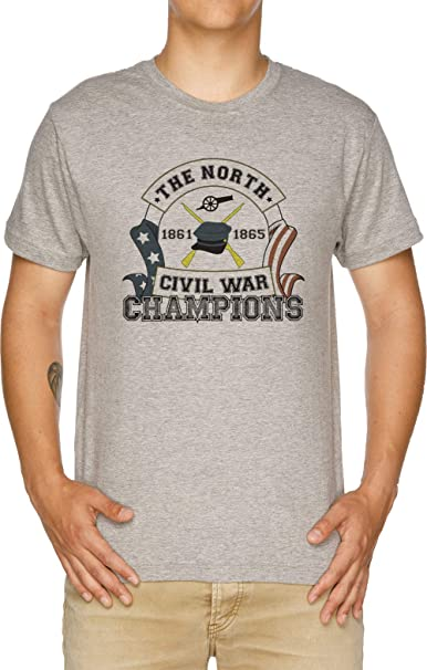 4d4b58e8 The North - Civil War Champions - Notherner Pride - Union Pride -  Anti-Confederate Camiseta Hombre Gris: Amazon.es: Ropa y accesorios