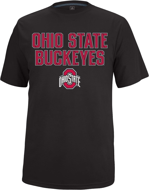 J America NCAA Adult Men Ohio State Iron Clad Poly Tee Ohio St