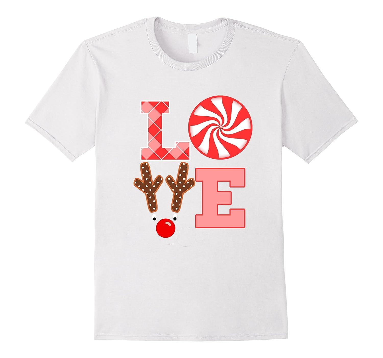 Love Reindeer Rudolph Cute Christmas Shirt for Toddler Girls-ANZ