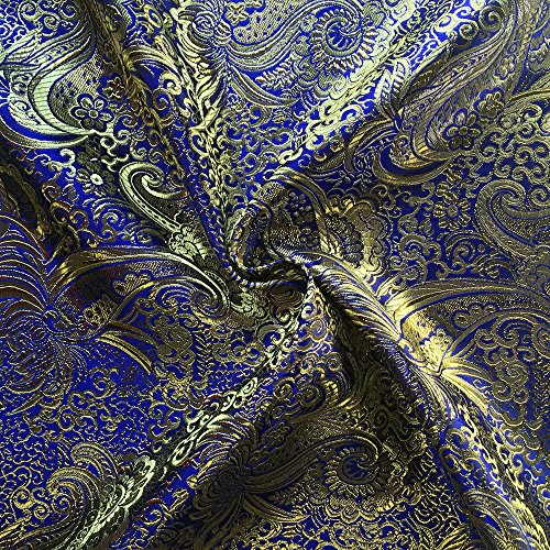 Metallic Paisley Brocade Fabric 60
