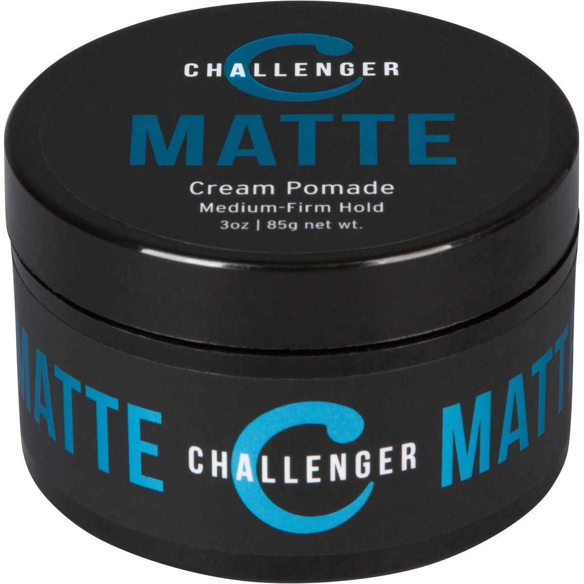 Matte Cream Pomade - Challenger 3oz - Medium Firm Hold - Water Based, Clean & Subtle Scent, Travel Friendly. Hair Wax, Fiber, Clay, Paste, Styling Cream All In One