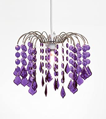 Tear drop chandelier ceiling pendant light shade acrylic crystal tear drop chandelier ceiling pendant light shade acrylic crystal bead purple mozeypictures Images