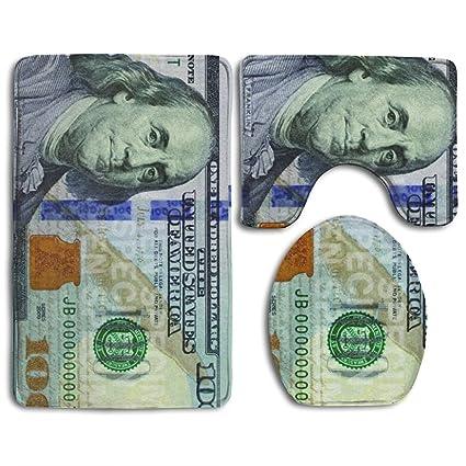 amazon com new 100 dollar bill non slip bathroom mat rug for