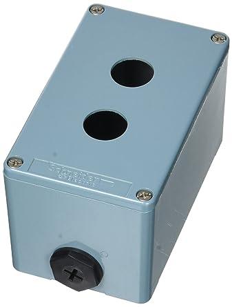 Schneider Electric XAPM2502 Caja Metalica Vacia 2 Taladros: Amazon ...
