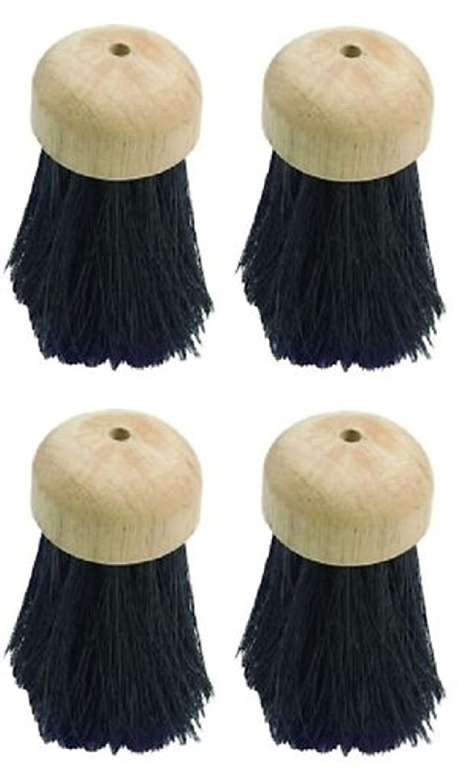 Likimen Home Pack Of 4 Round Wooden Traditional Hearth Brush Fireside Companion Replacement