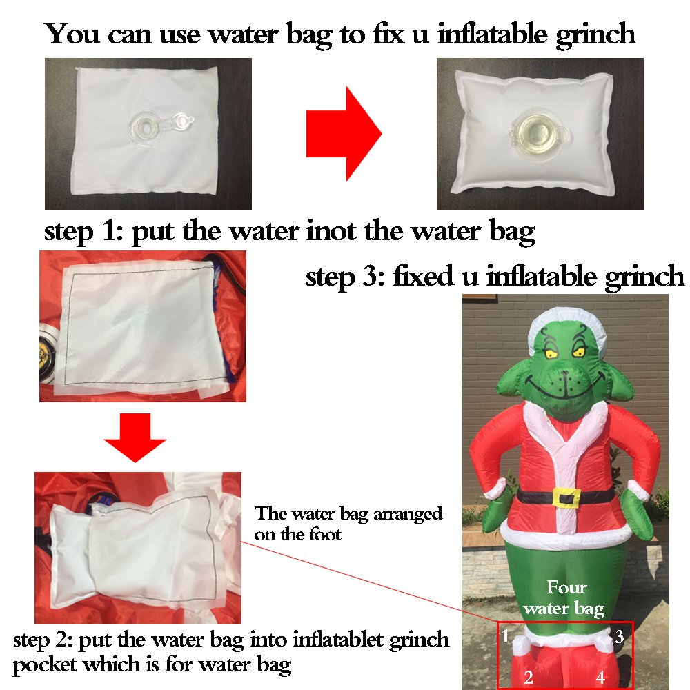 Amazon.com: 7 Foot Inflatable Grinch Yard Decorations Airblown ...