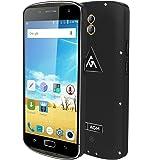 AGM X1 4G Outdoor Cellulare IP68 Impermeabile Antiurto Smartphone - SOS Aiuto Outdoor Sports Camping Escursioni di sopravvivenza di emergenza (nero)