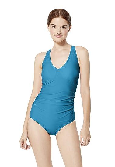 1ee155eb786 Amazon.com: Speedo Women's V-Neck One Piece Swimsuit with Underwire ...