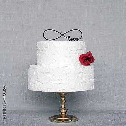 Amazon Infinity Love Wedding Cake Topper Personalized Acylic