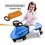 Swingcar Kidscar Rutschauto Rutschfahrzeug Bobbycar Rutscher als Geburtstags- oder Besuchs-Geschenke(Blau)