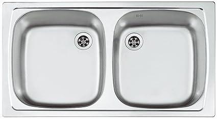 Doppio bacino lavello Alveus l\'incasso lavandino in acciaio INOX ...