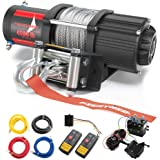 FIERYRED 12V 4500LBS Electric Steel Cable ATV Winch Kits for Towing ATV/UTV Off Road Trailer with Wireless Remote…