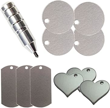 Chomas Creations Cameo 4 Precision Etching//Engraving Tool for with Metal Stamping Blanks Heart Round and Dog Tags