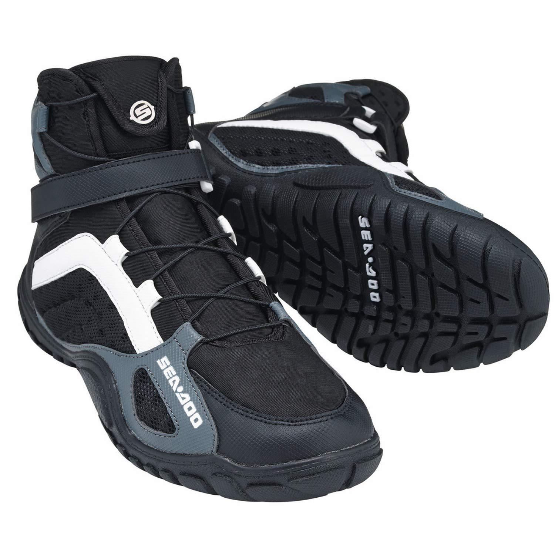 Sea-Doo New OEM Riding Boots, Black, Size 9, 2858072990