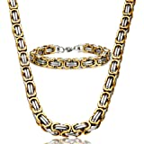Jstyle Stainless Steel Male Chain Necklace...