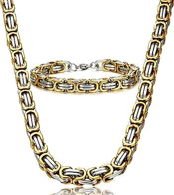 Amazon.com: Jstyle Collar de cadena de acero inoxidable para ...