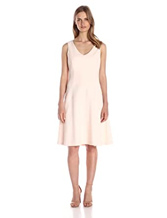 a31392652d Amazon.com  Lark   Ro Women s Sleeveless Fit and Flare Dress  Clothing