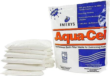 Aqua Cel Diatomaceous Earth Pool De Filter Powder 12 1lb Water Soluble Pouches Zero Dust Diatomaceous Earth Powder De Earth Swimming Pool Filter Media 120 Sqft Amazon Co Uk Garden Outdoors